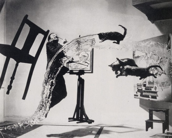 Philippe Halsman Dali and cats